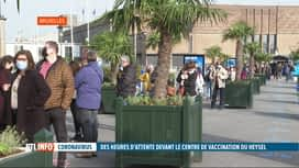 RTL INFO 19H : Vaccination: longues files d'attente au centre de vaccination du He...