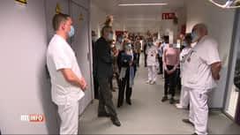 RTL INFO 13H : Frank Vandenbroucke visite le service de pédopsychiatrie du CHR de ...