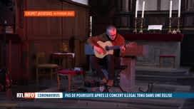RTL INFO 13H : Le guitariste Quentin Dujardin ne sera finalement pas poursuivi