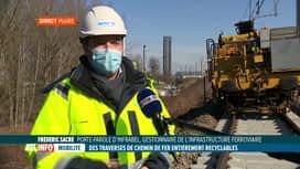 RTL INFO 13H : Infrabel va placer des traverses de chemin de fer entièrement recyc...