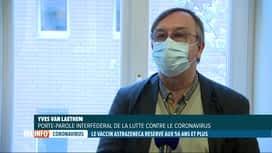 RTL INFO 19H : Le vaccin AstraZeneca uniquement pour les + de 56 ans en Belgique