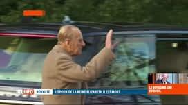 RTL INFO 19H : Le Duc d'Edimbourg s'est éteint, à l'âge de 99 ans, au château de W...