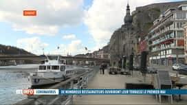 RTL INFO 19H : Coronavirus: Dinant souhaite également la réouverture des terrasses
