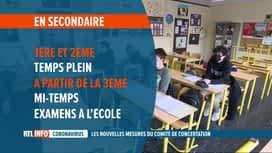 RTL INFO 19H : Codeco: la rentrée scolaire aura lieu le 19 avril, avec des restric...