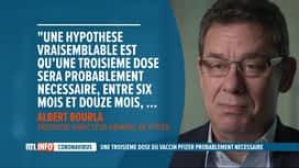 RTL INFO 19H : Coronavirus: Pfizer évoque la nécessité d'une 3e dose de vaccin