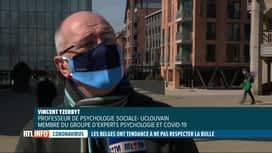 RTL INFO 19H : Coronavirus: la bulle de contact n'est pas vraiment respectée