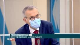 RTL INFO 13H : Coronavirus: Frank Vandenbroucke s'adresse au secteur Horeca très déçu