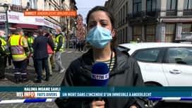 RTL INFO 13H : Incendie à Anderlecht, infos en direct