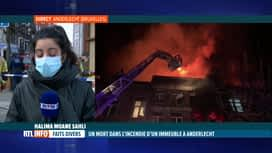 RTL INFO 19H : Incendie à Anderlecht, infos en direct