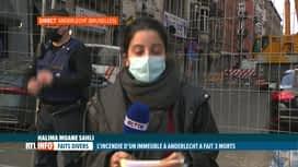 RTL INFO 19H : Incendie à Anderlecht: le point avec Halima Moane Sahli