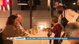 RTL INFO 19H : 835 millions d'€ supplémentaires pour les secteurs les plus touchés