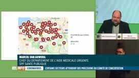RTL INFO 13H : Codeco: les chiffres des hospitalisations restent très préoccupants