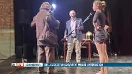 RTL INFO 13H : Coronavirus: 120 lieux culturels ont bravé hier soir l'interdiction...