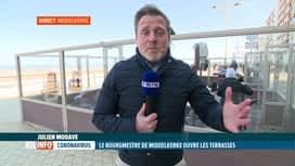 RTL INFO 13H : Le bourgmestre de Middelkerke, Jean-Marie Dedecker, rouvre les...