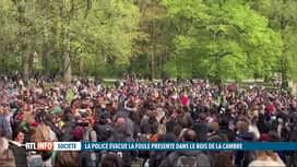"""RTL INFO 19H : Coronavirus: la """"Boum 2"""" a bien eu lieu au Bois de la Cambre à Brux..."""