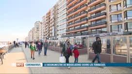 RTL INFO 19H : Le bourgmestre de Middelkerke ouvre des terrasses sur la digue ce 1...