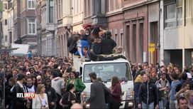 RTL INFO 19H : Le cortège festif de Liège s'est terminé dans le calme à 20h00 hier...