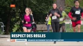 RTL INFO 19H : Coronavirus: organisation des 15 km de Liège avec respect des règles