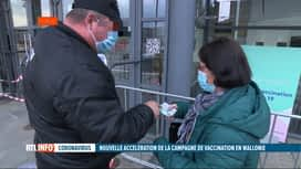 RTL INFO 19H : Coronavirus: la Wallonie va injecter 230.000 doses cette semaine