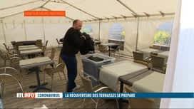 RTL INFO 19H : Coronavirus: l'Horeca se prépare pour la réouverture des terrasses