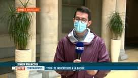 RTL INFO 13H : Coronavirus en Belgique: les indicateurs sont tous à la baisse