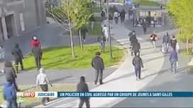 RTL INFO 13H : Un policier lynché par une bande de jeunes à St-Gilles