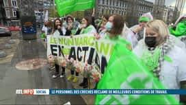 RTL INFO 13H : De nombreuses crèches sont en grève en Wallonie et à Bruxelles