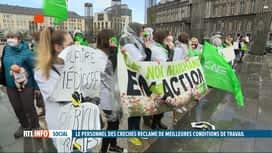 RTL INFO 19H : De nombreuses crèches étaient en grève en Wallonie et à Bruxelles