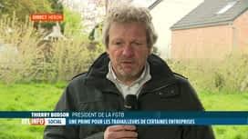 RTL INFO 13H : Accord interprofessionnel: réaction de Thierry Bodson pour la FGTB