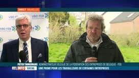 RTL INFO 13H : Accord interprofessionnel: Pieter Timmermans répond à Thierry Bodson