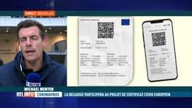 RTL INFO 19H : Certifcat Covid: la Belgique fera partie du projet pilote européen