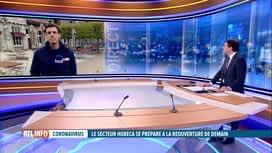 RTL INFO 13H : Ouverture des terrasses: pas question de rapprocher les tables