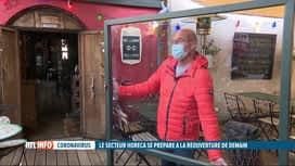 RTL INFO 19H : Ouverture des terrasses: pas question de rapprocher les tables