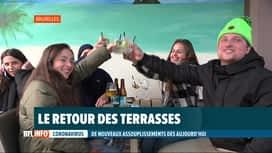 RTL INFO 19H : Réouverture des terrasses: les clients étaient au rendez-vous et ravis