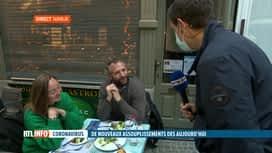 RTL INFO 19H : Réouverture des terrasses: ambiance dans un restaurant de Namur
