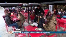RTL INFO 19H : Réouverture des terrasses: certains aménagements ont été nécessaires