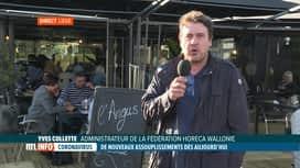 RTL INFO 19H : Réouverture des terrasses: premier bilan avec Yves Collette