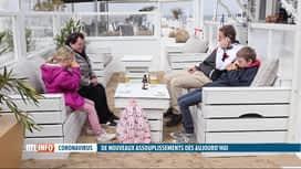 RTL INFO 19H : Réouverture des terrasses: des clients ont bravé la pluie à la Côte