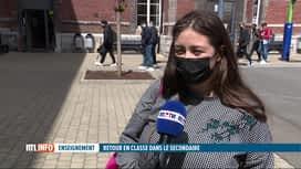 RTL INFO 19H : Tous les élèves du secondaire ont repris les cours en présentiel