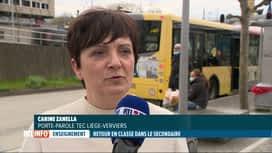 RTL INFO 19H : Retour dans les écoles: les TEC ont renforcé leur offre