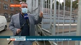 RTL INFO 13H : Coronavirus: évènement test au Festival Namur en Mai ce soir