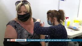 RTL INFO 13H : Coronavirus: les Francophones seraient plus réticents à se faire va...
