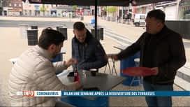 RTL INFO 19H : Coronavirus: premier bilan de la réouverture des terrasses