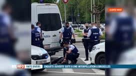 RTL INFO 13H : Un homme sorti d'un fourgon de police inconscient à Laeken