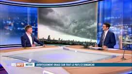 RTL INFO 13H : Alerte jaune sur la Belgique: les précisions de Stephan Van Bellinghen