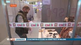RTL INFO 13H : Coronavirus: la phase de vaccination tout public débute en Wallonie
