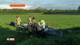 RTL INFO 13H : Beaumont: deux personnes gravement blessées dans un accident sur la...