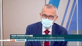 RTL INFO 13H : Coronavirus: Frank Vandenbroucke évoque la fin du port du masque