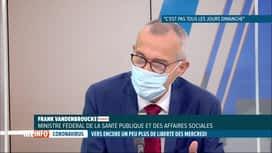 RTL INFO 19H : Coronavirus: Frank Vandenbroucke évoque la fin du port du masque