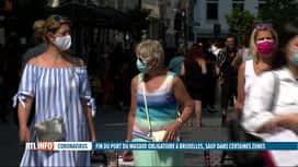 RTL INFO 19H : Fin de l'obligation du port du masque en extérieur à Bruxelles dès ...